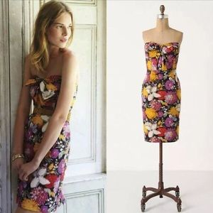 Anthro Moulinette Soeurs Abstract Floral Bow Dress